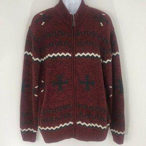 Orvis Badlands Navajo Cardigan Sweater Southwest L